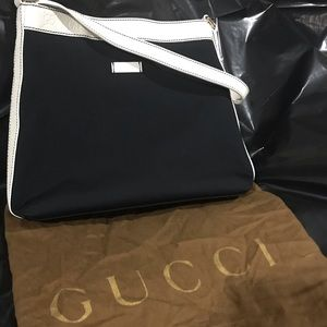 Gucci Navy and White Evening Bag